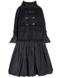 Noir Kei Ninomiya - Reversible Hooded Duffle Coat - Lyst