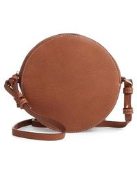 Chelsea28 - Cassie Faux Leather Circle Crossbody Bag - Lyst