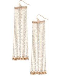 Treasure & Bond - Linear Fringe Statement Earrings - Lyst