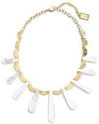 Karine Sultan - Hammered Collar Necklace - Lyst