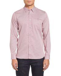 Ted Baker - Vilamor Extra Slim Fit Print Sport Shirt - Lyst