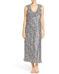 Oscar de la Renta - Ruffled Satin Nightgown - Lyst