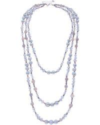 Nakamol - Crochet Pearl & Stone Beaded Multistrand Necklace - Lyst