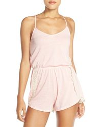 Make + Model - 'late Nights' Racerback Romper - Lyst