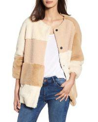 BCBGeneration - Patchwork Faux Fur Jacket - Lyst
