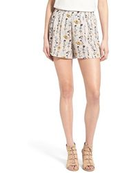 Hinge - Loose High Waist Shorts - Lyst