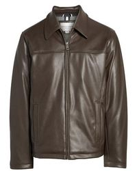 Cole Haan - Collared Open Bottom Faux Leather Jacket - Lyst