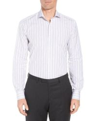 Ike Behar - Regular Fit Stripe Dress Shirt - Lyst