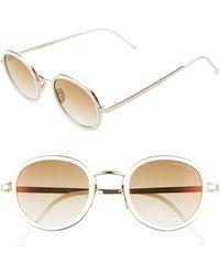 Cutler & Gross - 48mm Polarized Round Sunglasses - Lyst