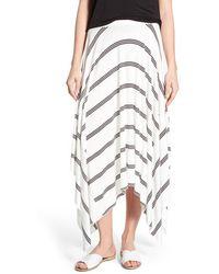 Halogen - Stretch Knit Handkerchief Hem Maxi Skirt - Lyst
