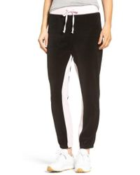 Juicy Couture - Silverlake Colorblock Velour Track Pants - Lyst