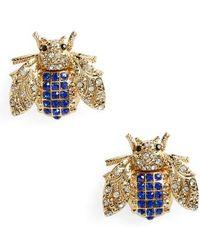 TOPSHOP - Rhinestone Insect Stud Earrings - Lyst