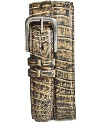 Torino Leather Company - 'zimbabwe' Genuine Crocodile Belt - Lyst