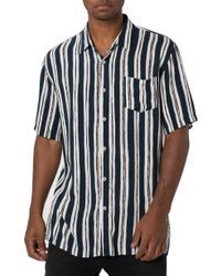 Zanerobe - Impression Short-sleeve Striped Regular Fit Shirt - Lyst