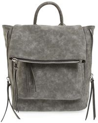 Phase 3 - Angle Zip Faux Leather Backpack - Lyst