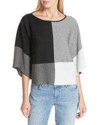 Eileen Fisher - Colorblock Lyocell Sweater - Lyst