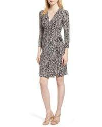 Anne Klein - Cedarwood Stretch Crepe Faux Wrap Dress - Lyst