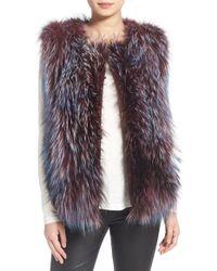 Tasha Tarno - Silver Fox and Goat-Fur Vest - Lyst