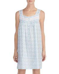 Eileen West - Cotton Lawn Short Nightgown - Lyst