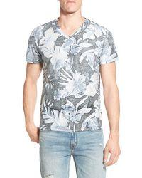 Sol Angeles - 'indigo Palm' Print V-neck T-shirt - Lyst