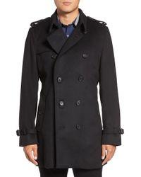 Burberry Brit - Kensington Wool & Cashmere Trench Coat - Lyst
