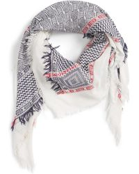 Evelyn K - Geo Pattern Square Scarf - Lyst