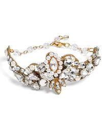 Halo - Crystal & Faux Pearl Bracelet - Lyst