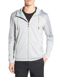 BOSS Green - 'saggytech' Hooded Zip Jacket - Lyst