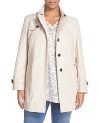Basler - Belted Single Breasted Trench Coat - Lyst