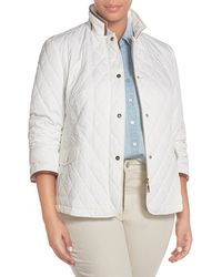 Basler - Quilted Faux-Leather-Trimmed Jacket - Lyst