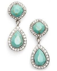Samantha Wills - 'new York Kiss' Double Drop Earrings - Turquoise - Lyst