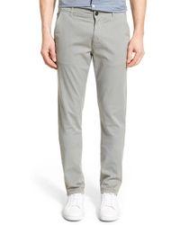 Good Man Brand - 'grand Lux' Slim Fit Twill Pants - Lyst