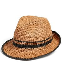 Volcom - 'party Island' Crochet Fedora - Lyst