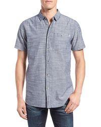 Bench - 'end' Regular Fit Short Sleeve Sport Shirt - Lyst