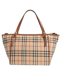 Burberry - Horseferry Check Diaper Tote - Lyst