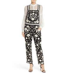 Needle & Thread - Floral Lace Dungarees - Lyst