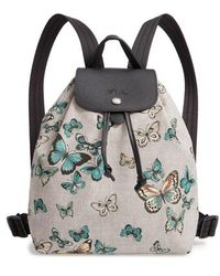 Longchamp - Le Pliage Butterfly Print Backpack - Lyst