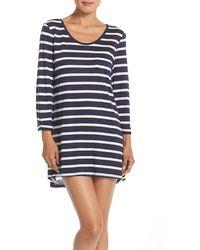 Daniel Buchler - Stripe Modal & Linen Sleep Shirt - Lyst