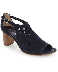 Anyi Lu | Zoe Suede Perforated Sandals | Lyst