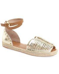 French Connection - 'usha' Huarache Ankle Strap Sandal - Lyst