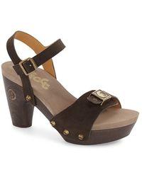 Flogg | 'fantastic' Stud Platform Sandal | Lyst