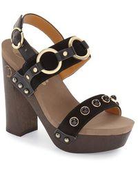 Flogg | 'entrada' Stud Harness Platform Sandal | Lyst