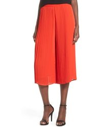 Storee - Pleated Culottes - Lyst