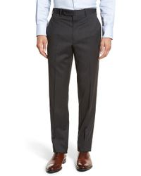 JB Britches - J.b. Britches 'torino' Flat Front Solid Wool Trousers - Lyst