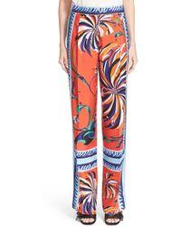 Emilio Pucci | Cactus Print Silk Pyjama Trousers | Lyst