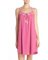 Lucky Brand Embroidered Cotton Chemise