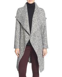 Bebe - Tweed Wrap Coat - Lyst