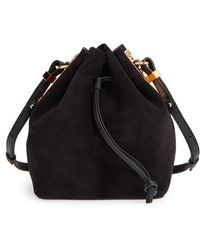 Sophie Hulme - Small 'Nelson' Suede Drawstring Crossbody Bag - Lyst