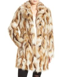 7 For All Mankind - 7 For All Mankind Faux Fur Coat - Lyst