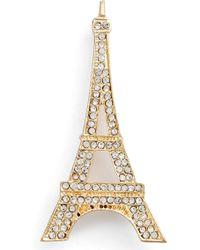 Cara | Eiffel Tower Crystal Brooch | Lyst